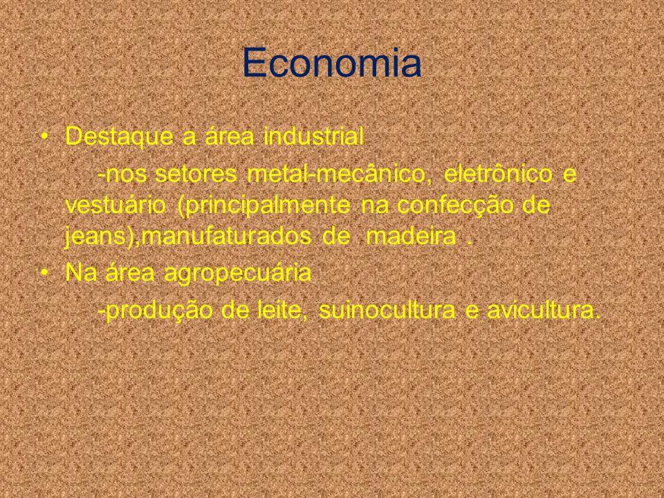 Economia Destaque a área industrial