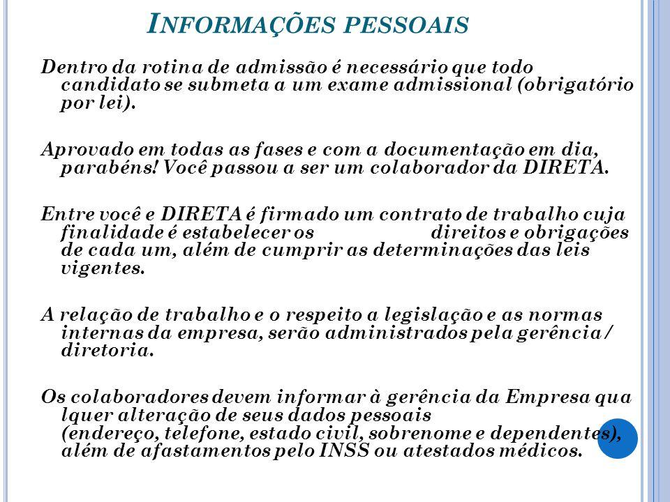 Informações pessoais