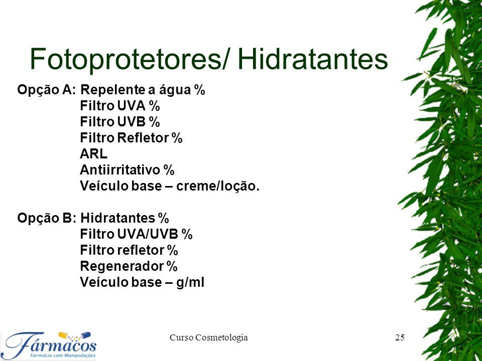 Fotoprotetores/ Hidratantes