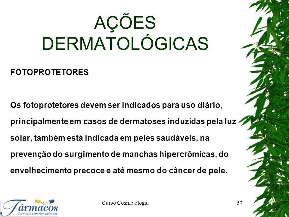 AÇÕES DERMATOLÓGICAS FOTOPROTETORES
