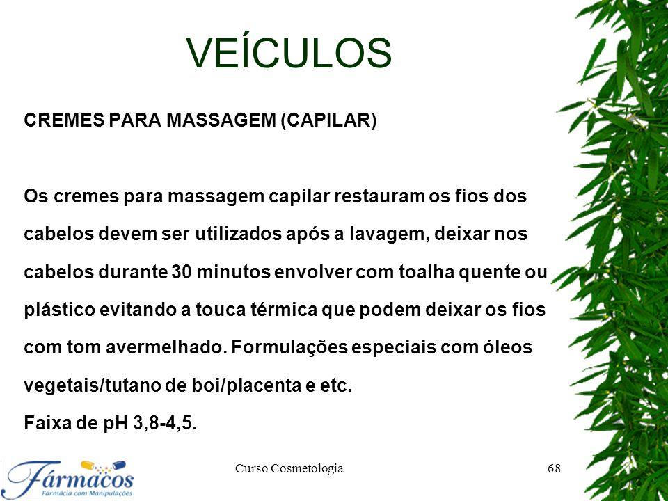 VEÍCULOS CREMES PARA MASSAGEM (CAPILAR)