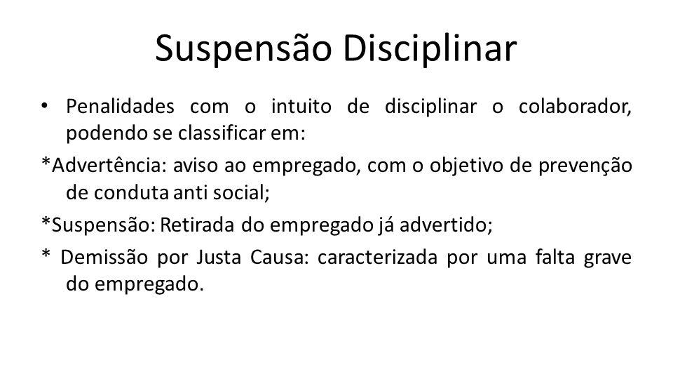 Suspensão Disciplinar