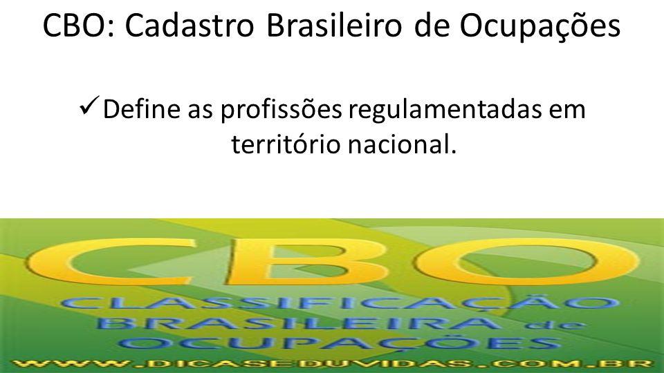 CBO: Cadastro Brasileiro de Ocupações