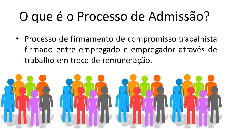 O que é o Processo de Admissão