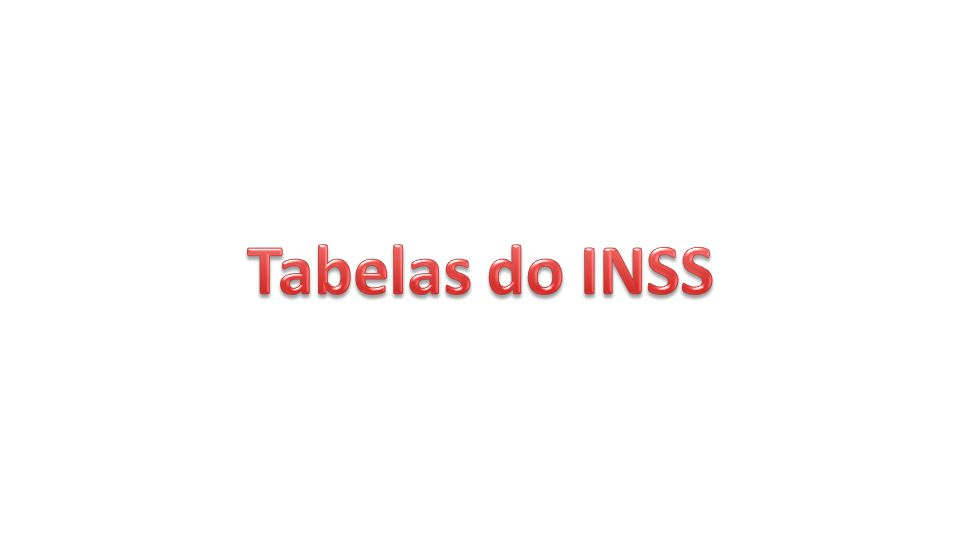 Tabelas do INSS