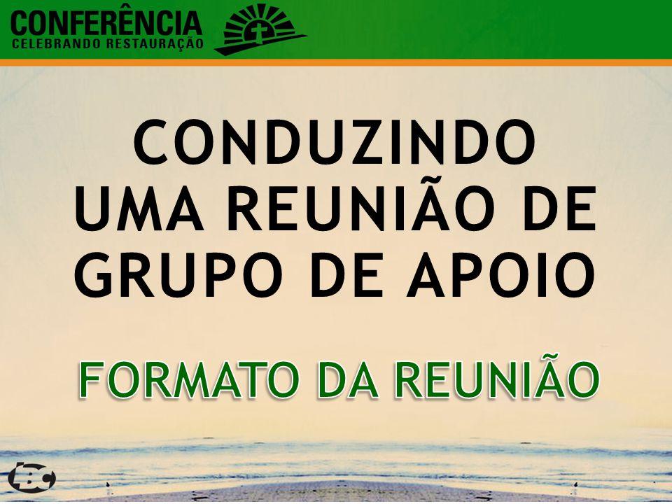 CONDUZINDO UMA REUNIÃO DE GRUPO DE APOIO