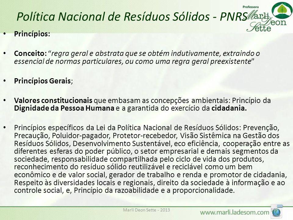 Política Nacional de Resíduos Sólidos - PNRS