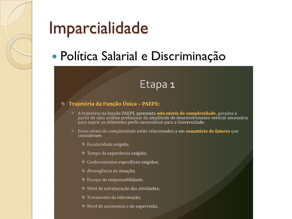Imparcialidade Política Salarial e Discriminação