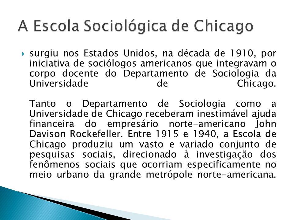 A Escola Sociológica de Chicago