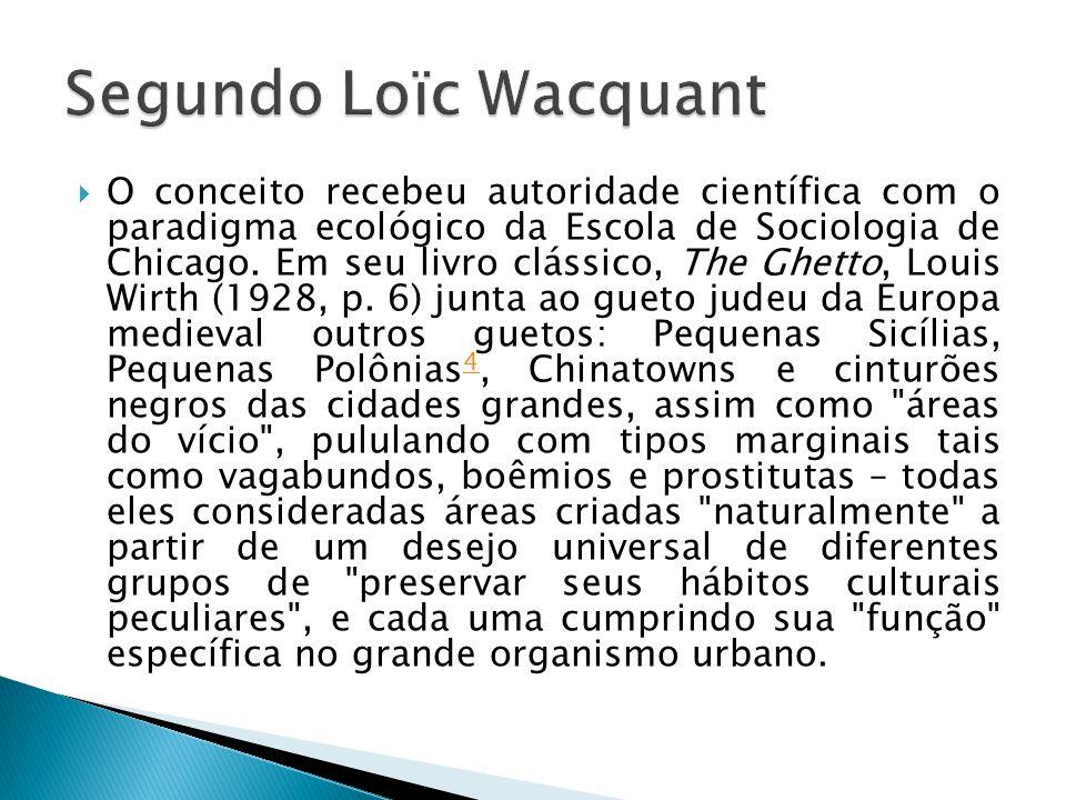 Segundo Loïc Wacquant