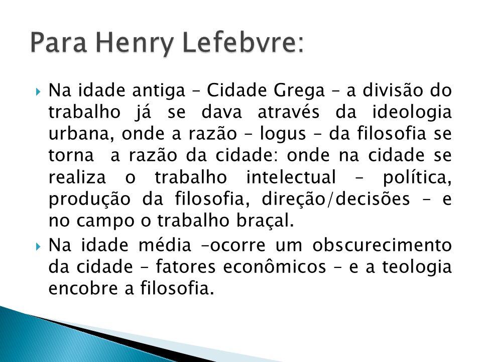 Para Henry Lefebvre: