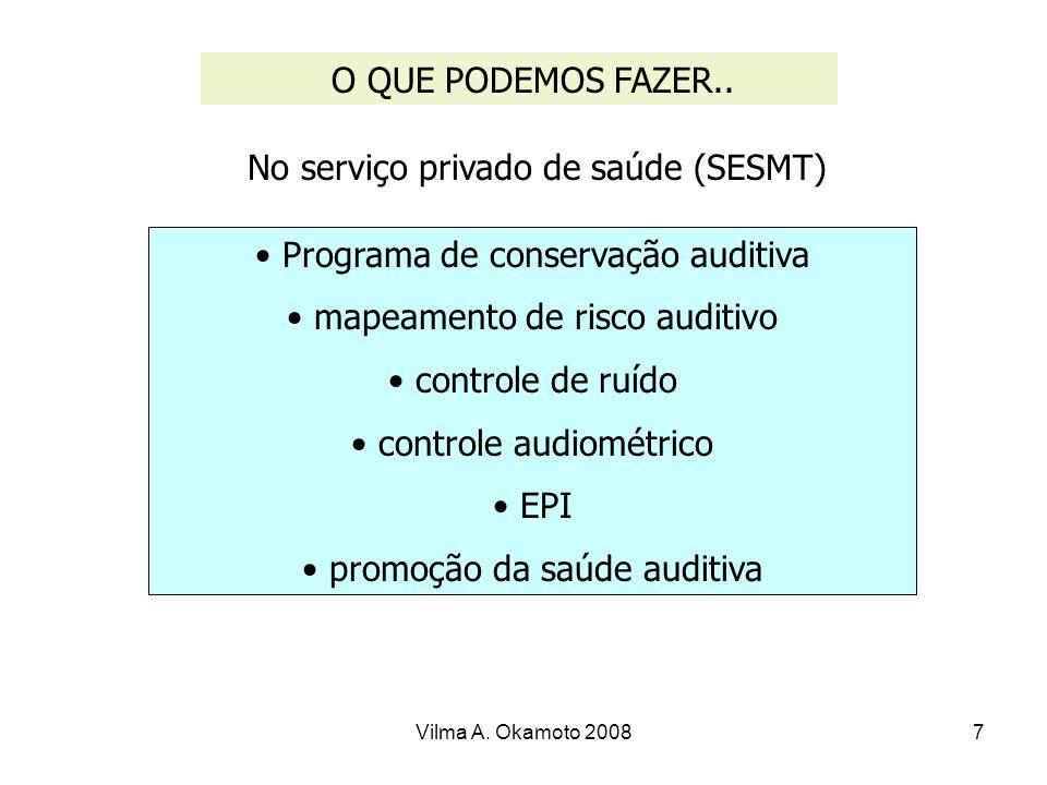 No serviço privado de saúde (SESMT)