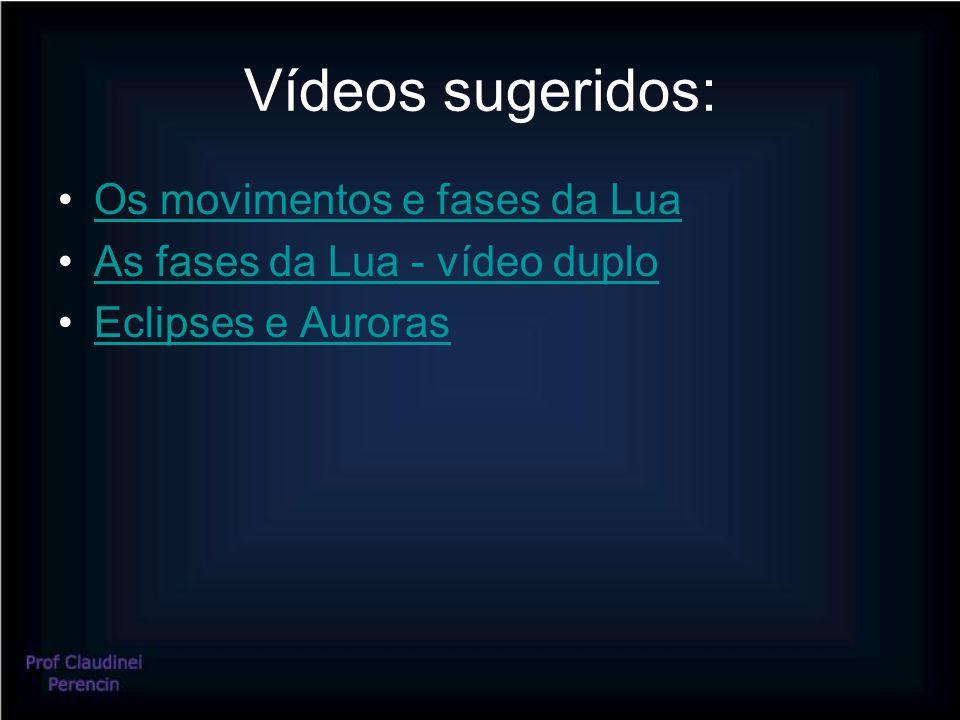 Vídeos sugeridos: Os movimentos e fases da Lua