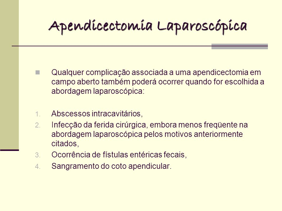 Apendicectomia Laparoscópica