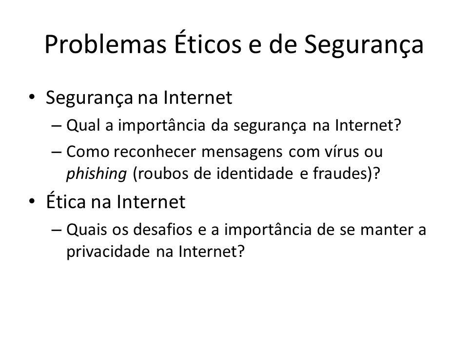 Problemas Éticos e de Segurança