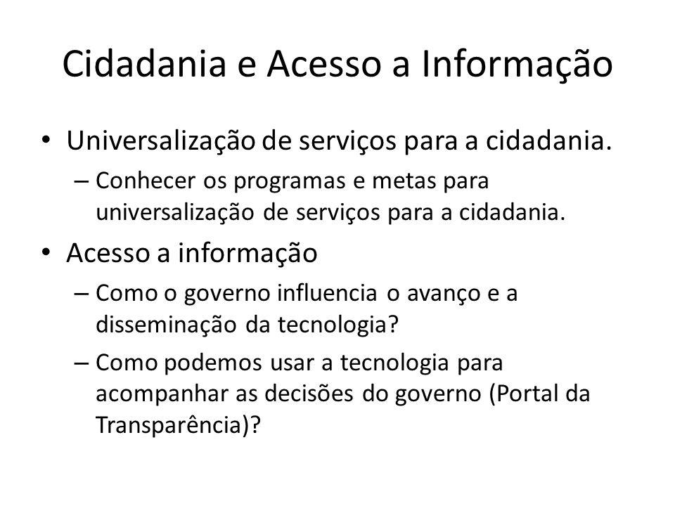 Cidadania e Acesso a Informação