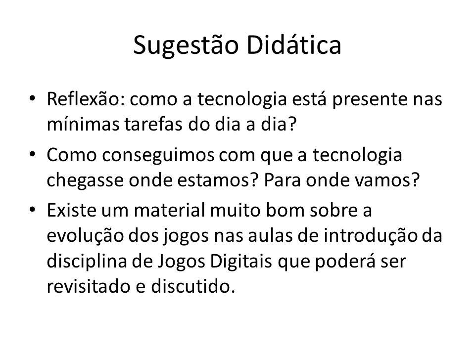 Sugestão Didática Reflexão: como a tecnologia está presente nas mínimas tarefas do dia a dia