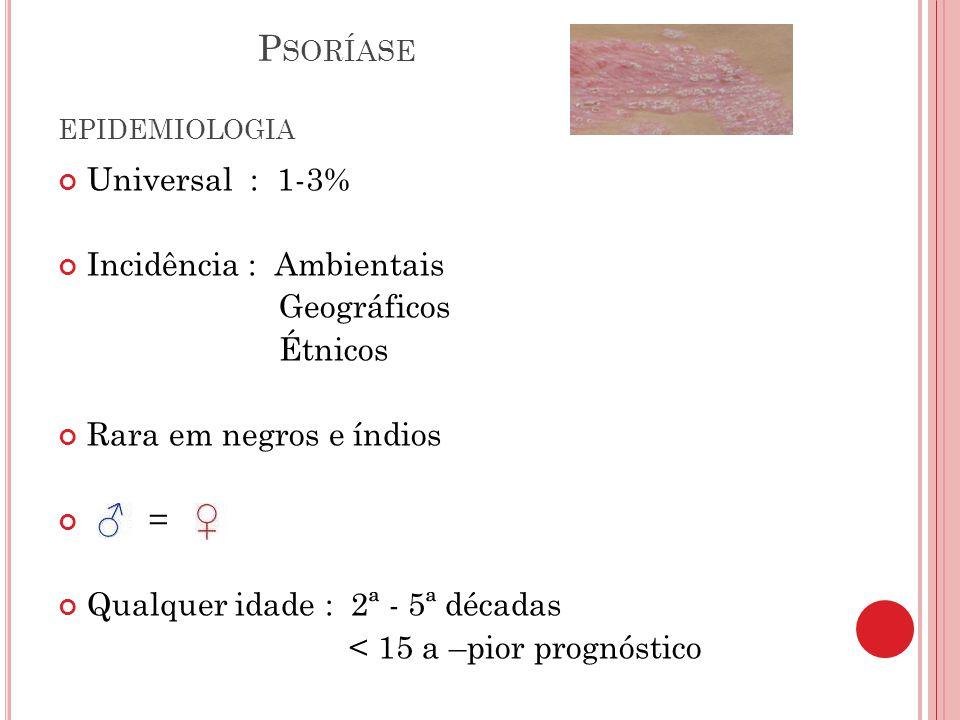 Psoríase EPIDEMIOLOGIA