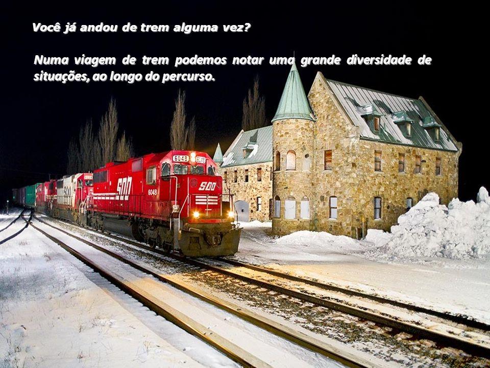 Você já andou de trem alguma vez