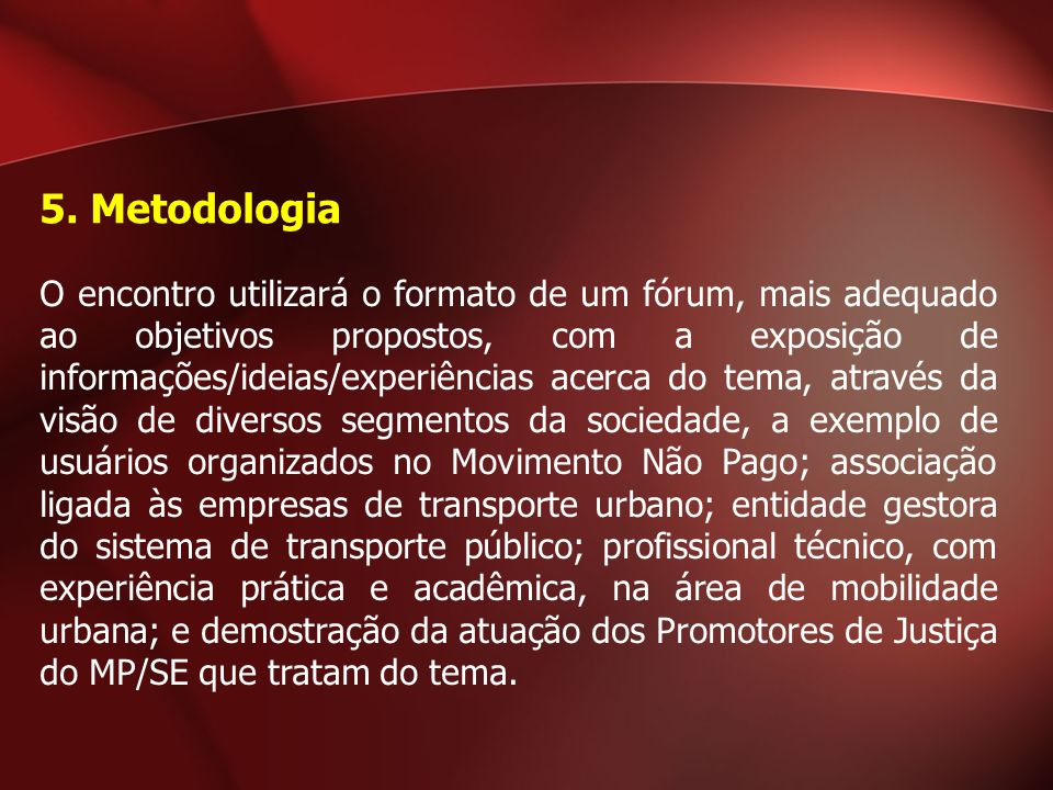 5. Metodologia