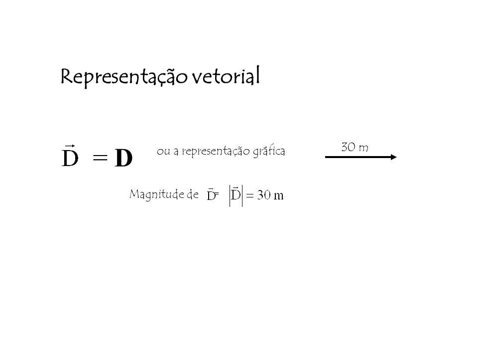 = D Representação vetorial 30 m ou a representação gráfica