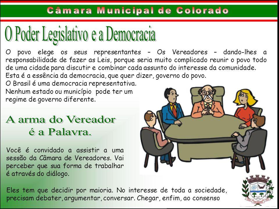 O Poder Legislativo e a Democracia