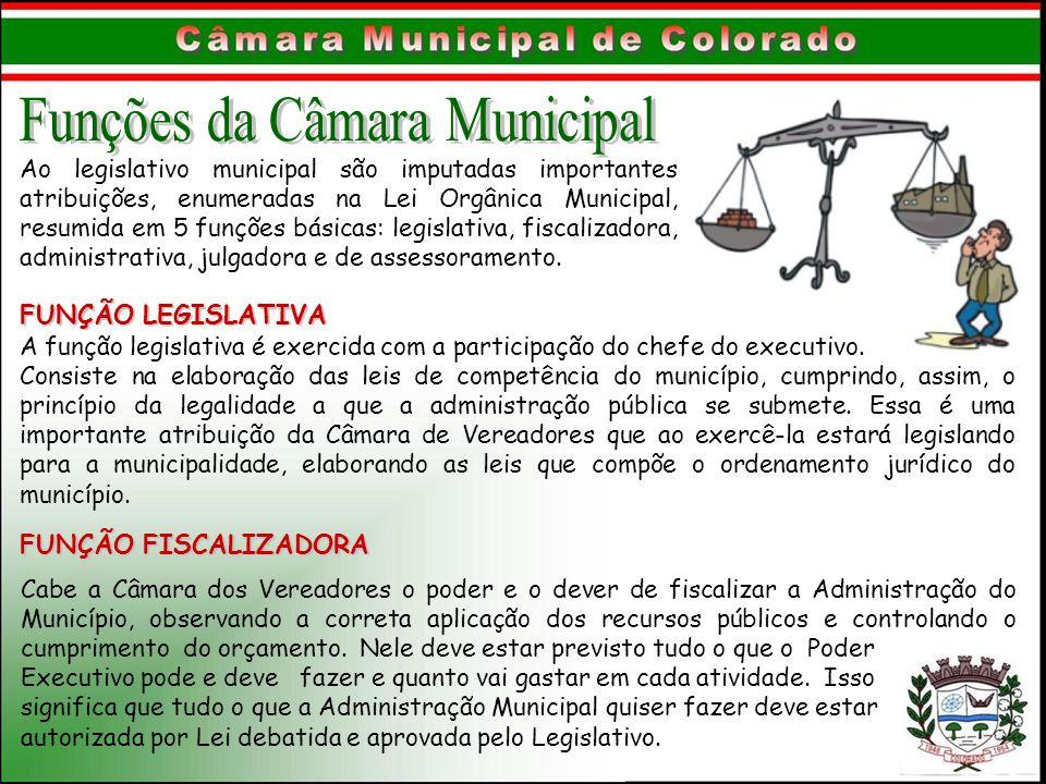 Funções da Câmara Municipal