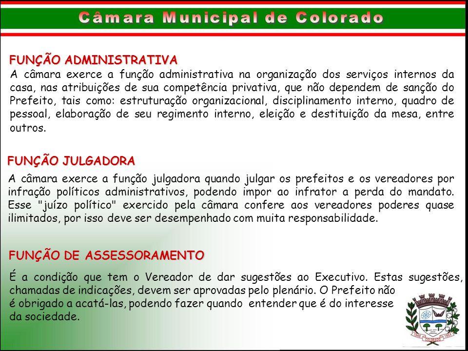 FUNÇÃO DE ASSESSORAMENTO FUNÇÃO ADMINISTRATIVA