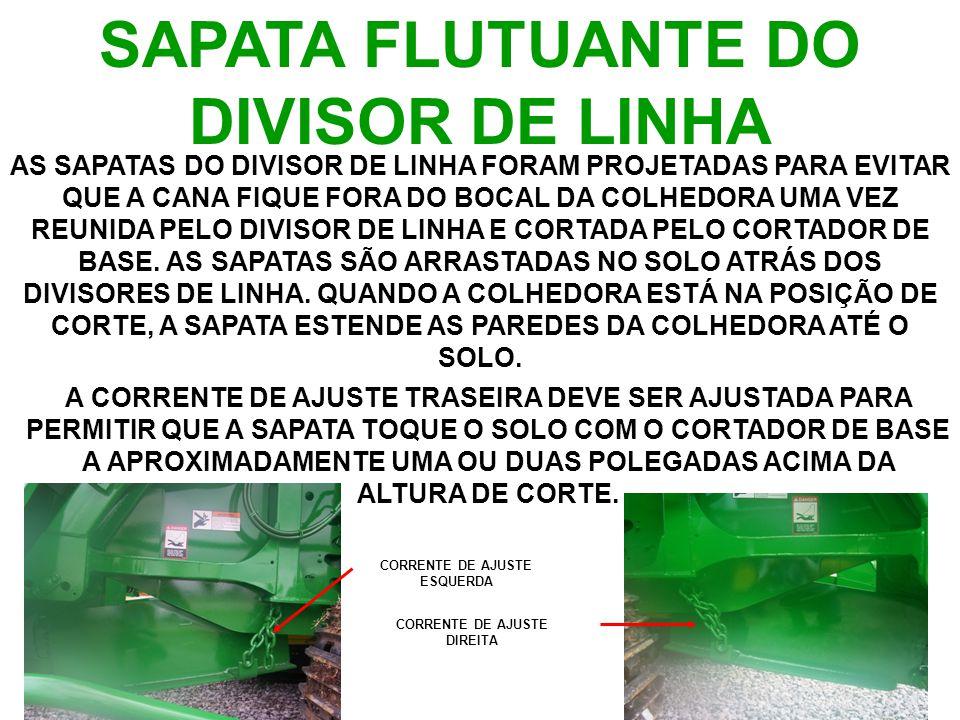 SAPATA FLUTUANTE DO DIVISOR DE LINHA