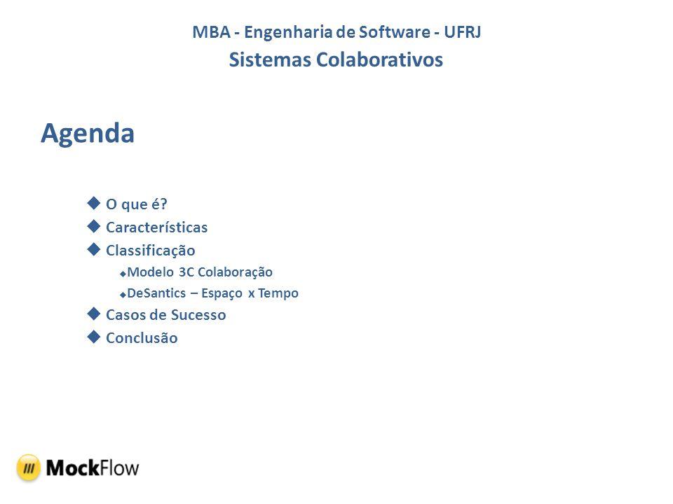 MBA - Engenharia de Software - UFRJ Sistemas Colaborativos