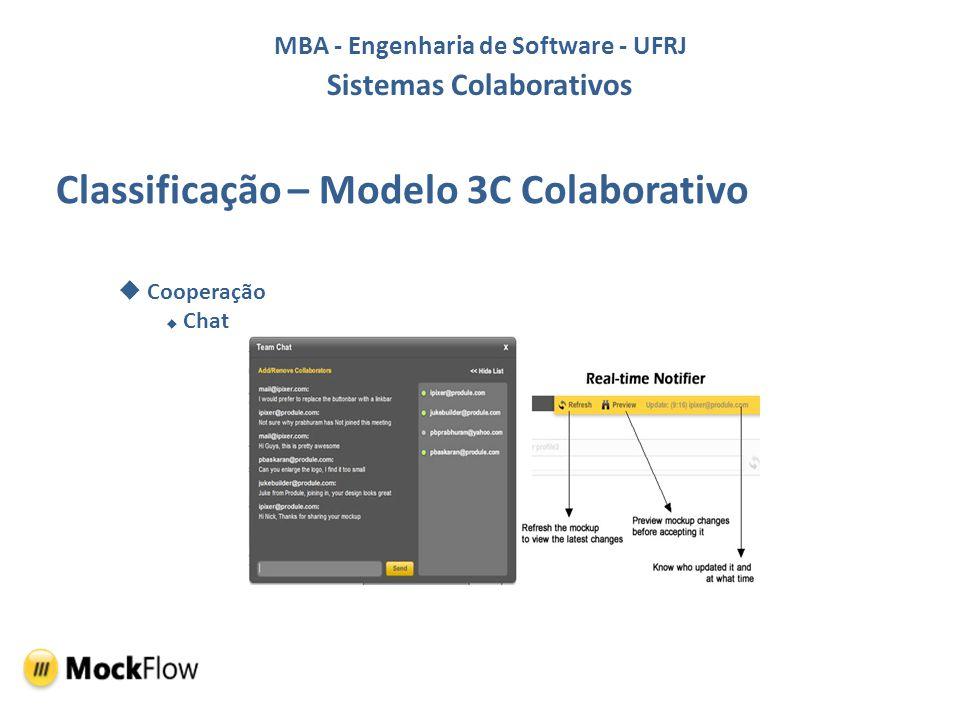 Classificação – Modelo 3C Colaborativo