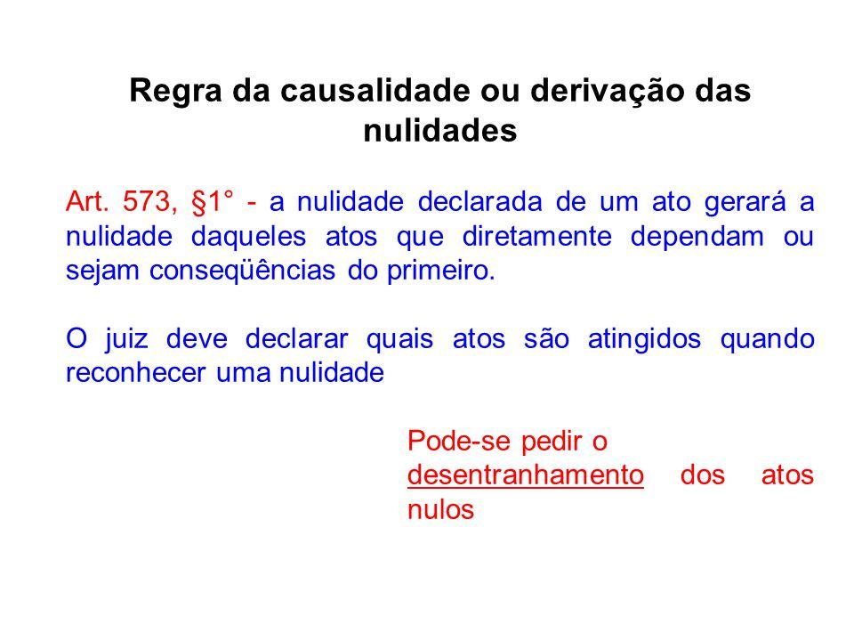 Regra da causalidade ou derivação das nulidades
