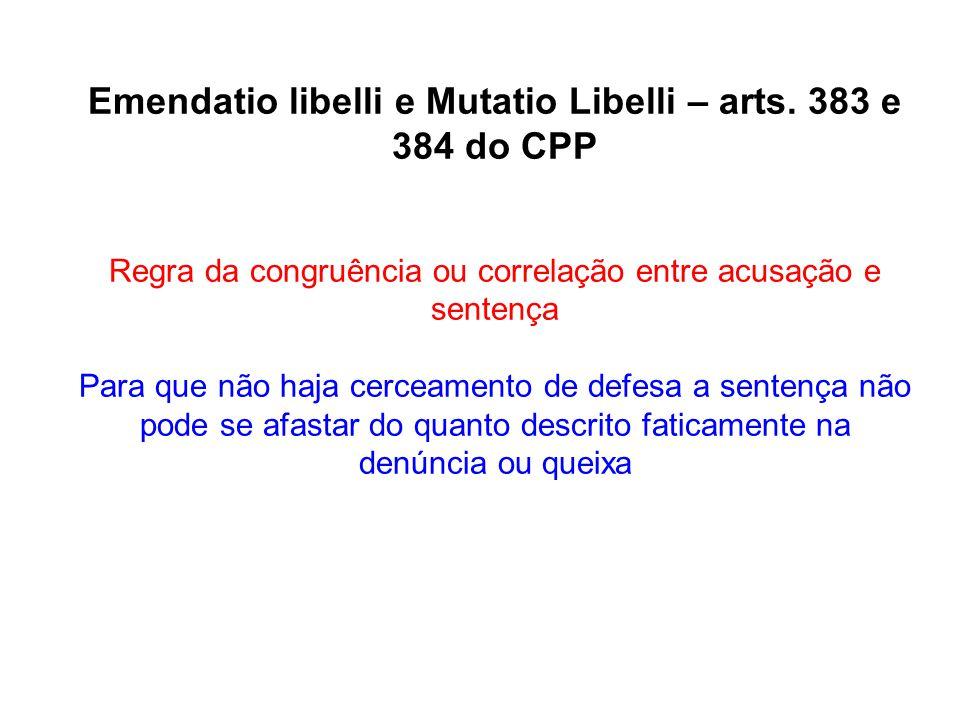 Emendatio libelli e Mutatio Libelli – arts. 383 e 384 do CPP