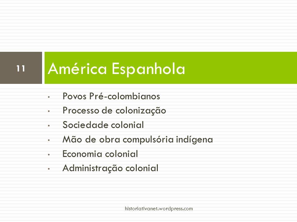 América Espanhola Povos Pré-colombianos Processo de colonização