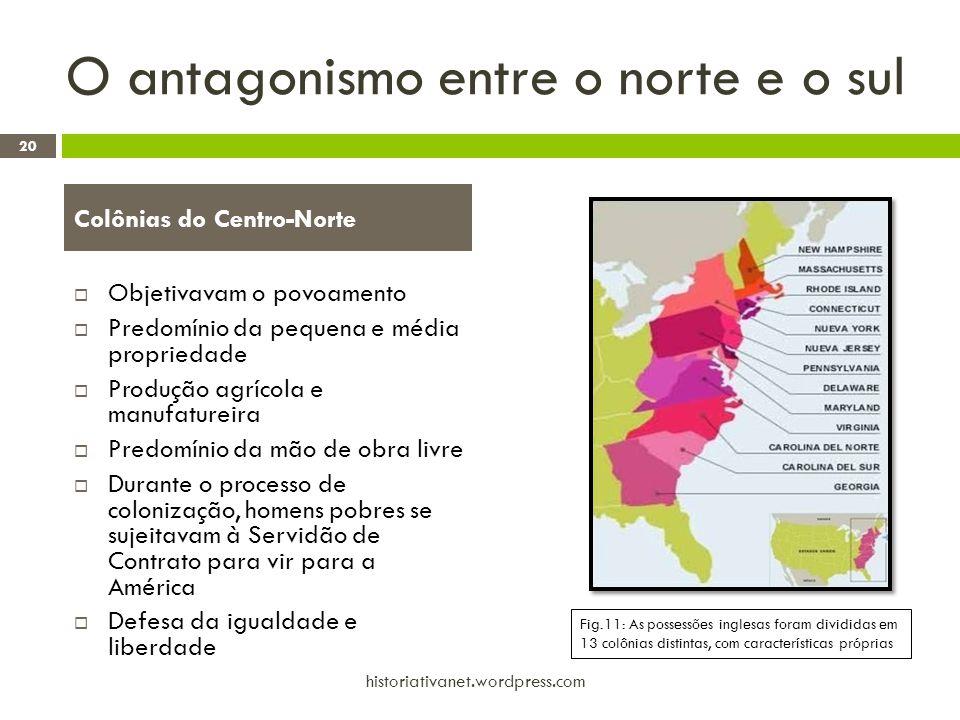 O antagonismo entre o norte e o sul