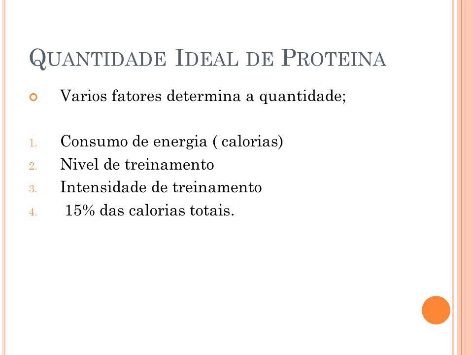 Quantidade Ideal de Proteina