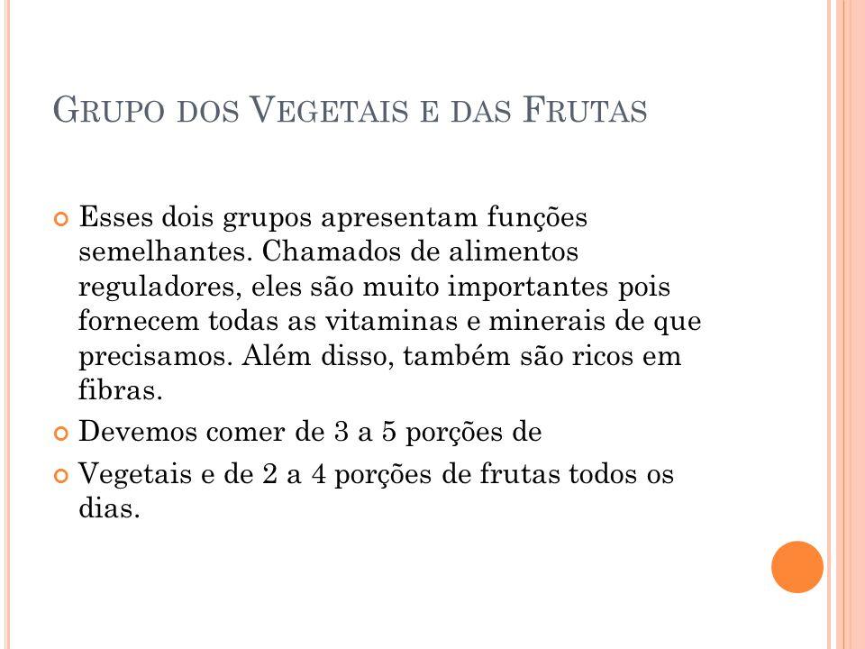 Grupo dos Vegetais e das Frutas