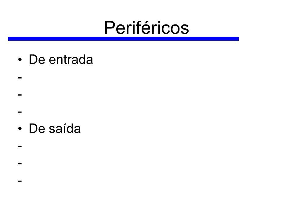 Periféricos De entrada - De saída