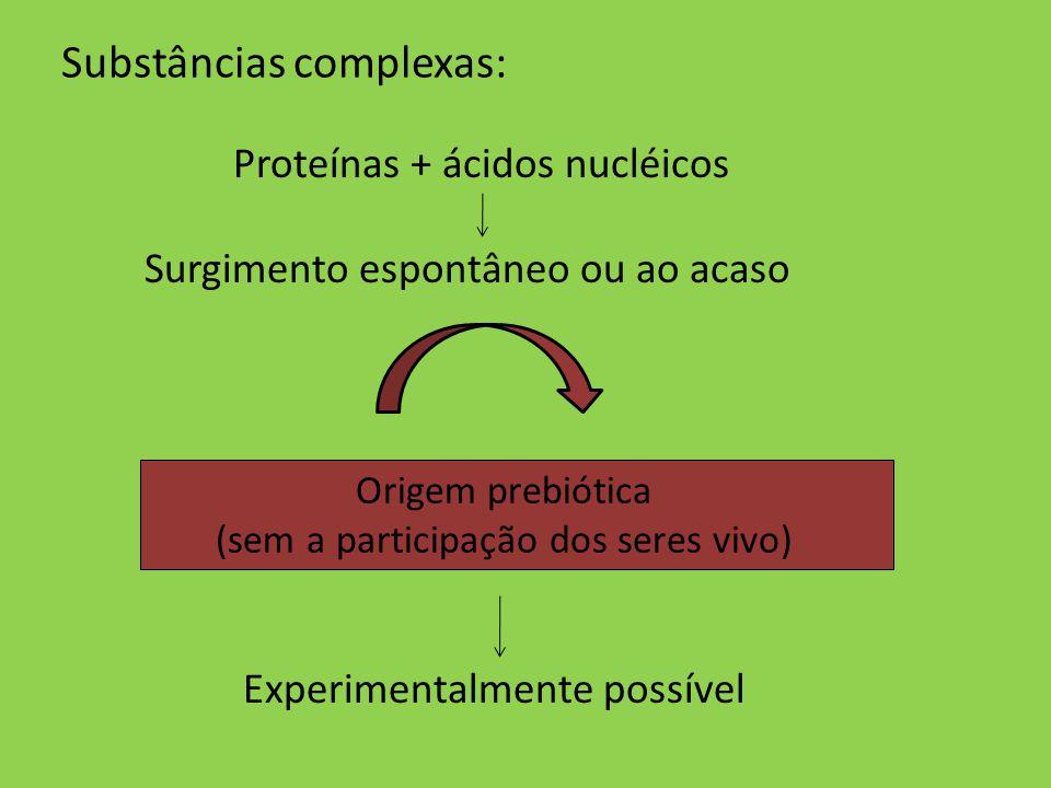 Substâncias complexas: