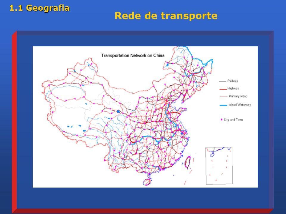 1.1 Geografia Rede de transporte