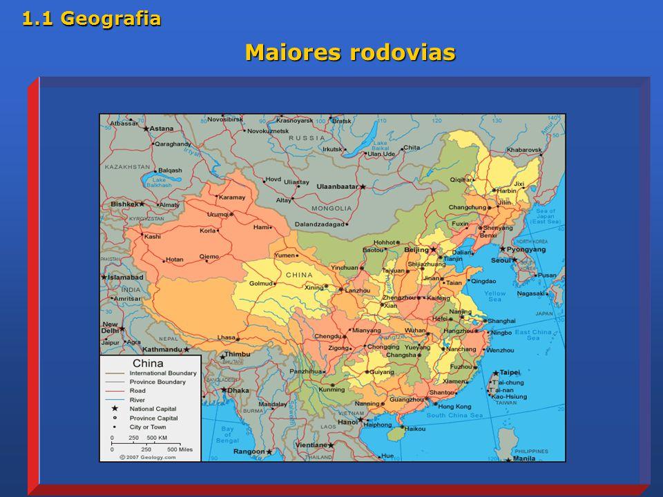 1.1 Geografia Maiores rodovias