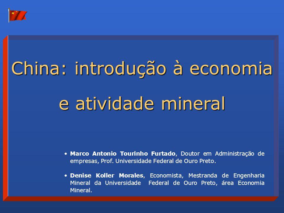 China: introdução à economia e atividade mineral