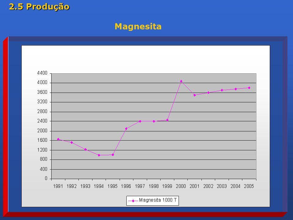 2.5 Produção Magnesita