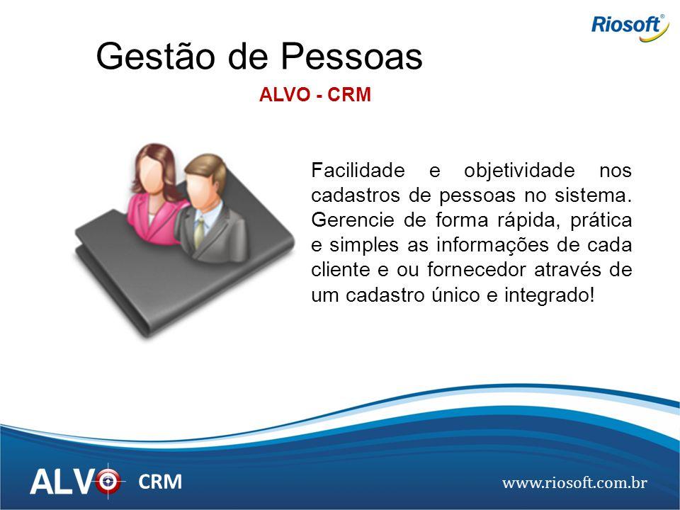 Gestão de Pessoas ALVO - CRM.
