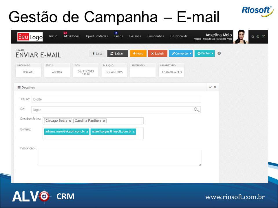 Gestão de Campanha – E-mail