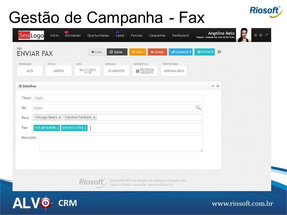 Gestão de Campanha - Fax