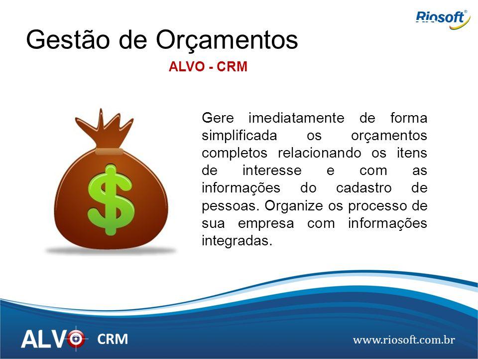 Gestão de Orçamentos ALVO - CRM.