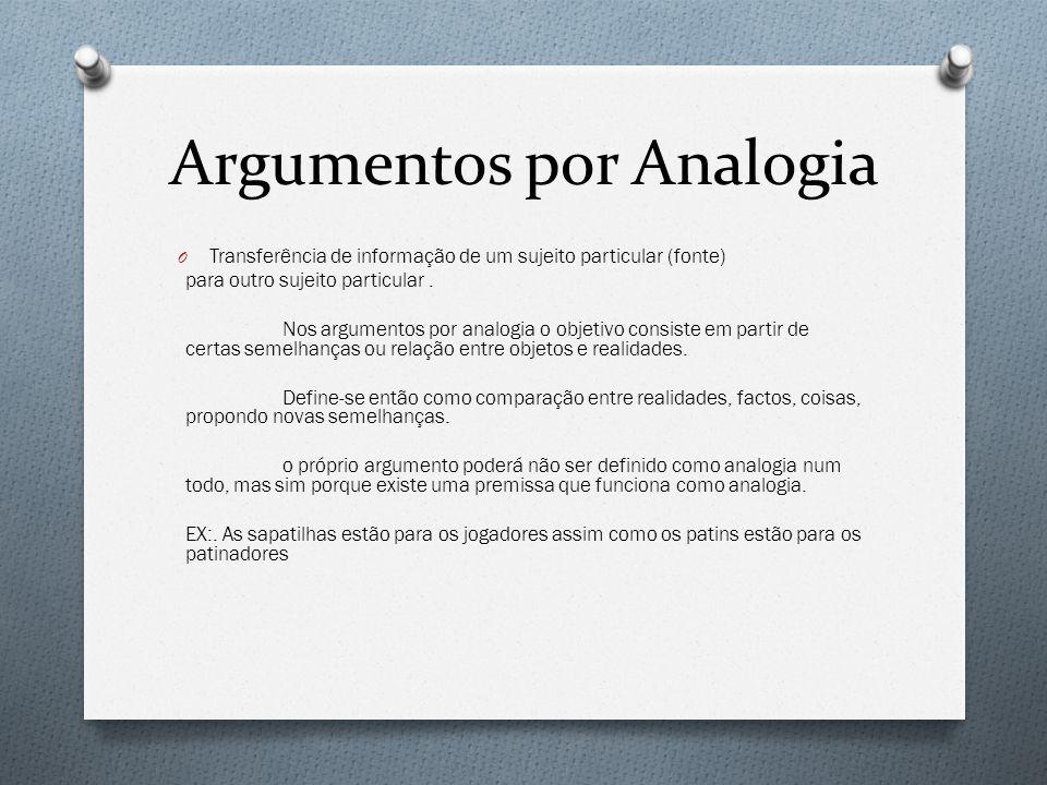 Argumentos por Analogia