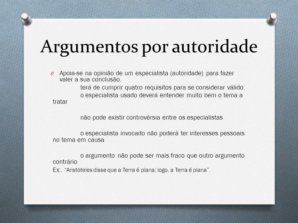 Argumentos por autoridade