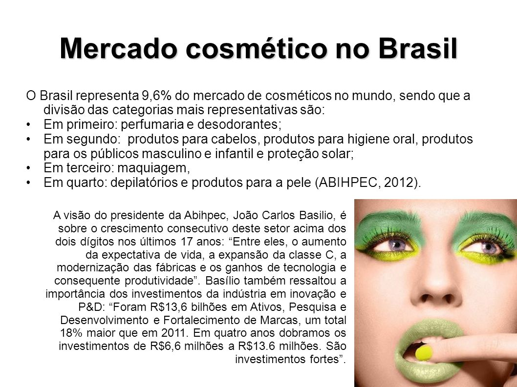 Mercado cosmético no Brasil